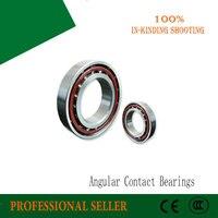 2pcs 7007AC 35*62*14mm bearing steel Angular contact ball bearing 7007