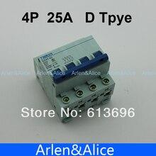 4 P 25A D typ 240V/415V Circuit breaker MCB 4 POLE