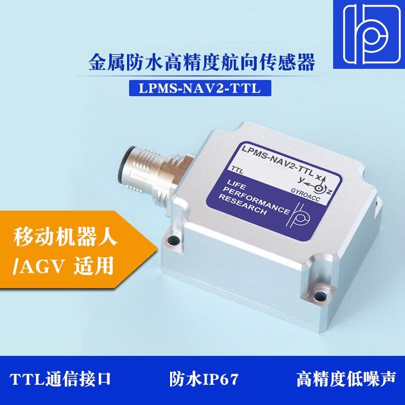 LPMS-NAV2 TTL de Metal a prueba de agua de alta precisión hacia el Sensor de ángulo de