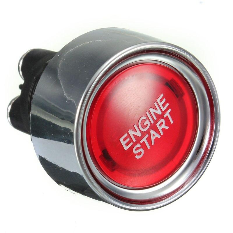 Красный Универсальный Автомобильный кнопочный стартовый переключатель с подсветкой для запуска двигателя 12 В постоянного тока подходит для отверстия 22 мм