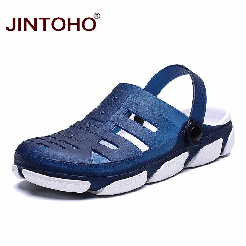 JINTOHO Summer Beach Shoes Fashion Men Sandals Breathable Casual Male Sandals Cheap Beach Sandals Men Beach Shoes