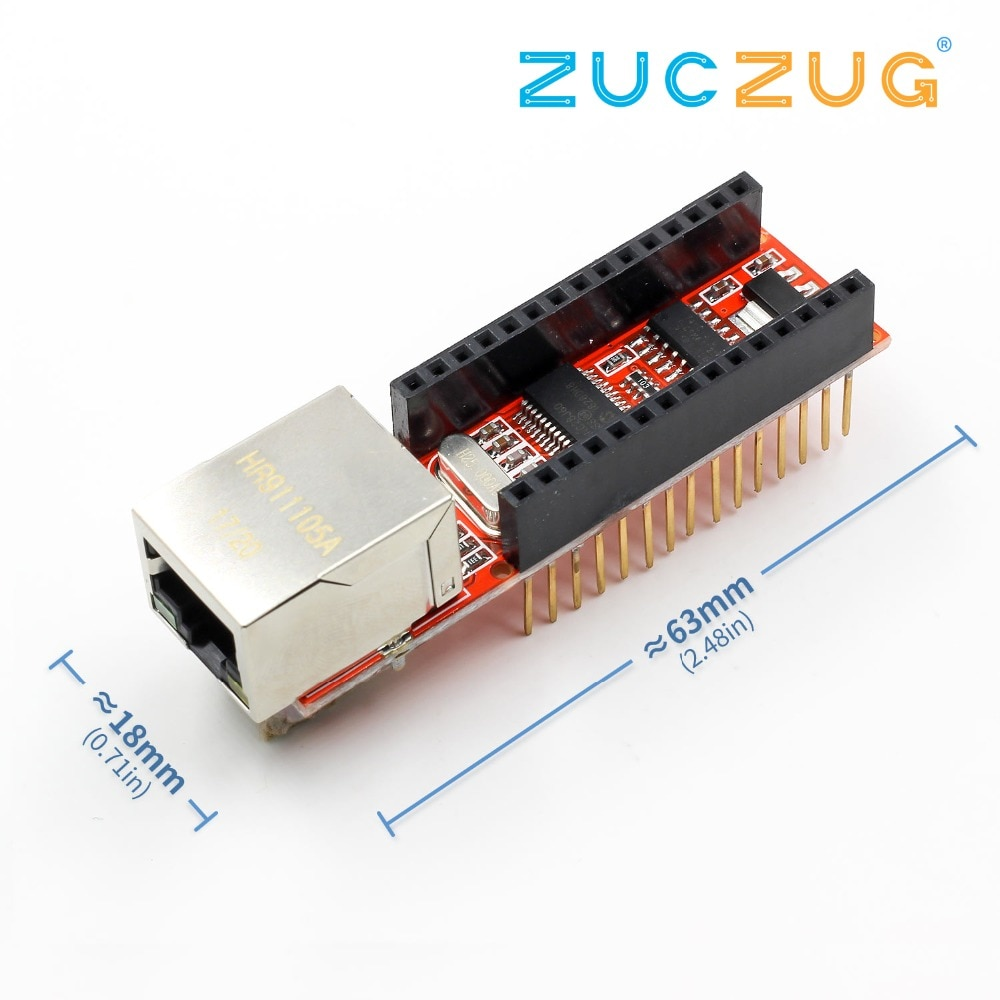 Nano V3 Ethernet Shield ENC28J60 Microchip HR911105A Ethernet Webserver Board Module for Arduino Nano 3.0