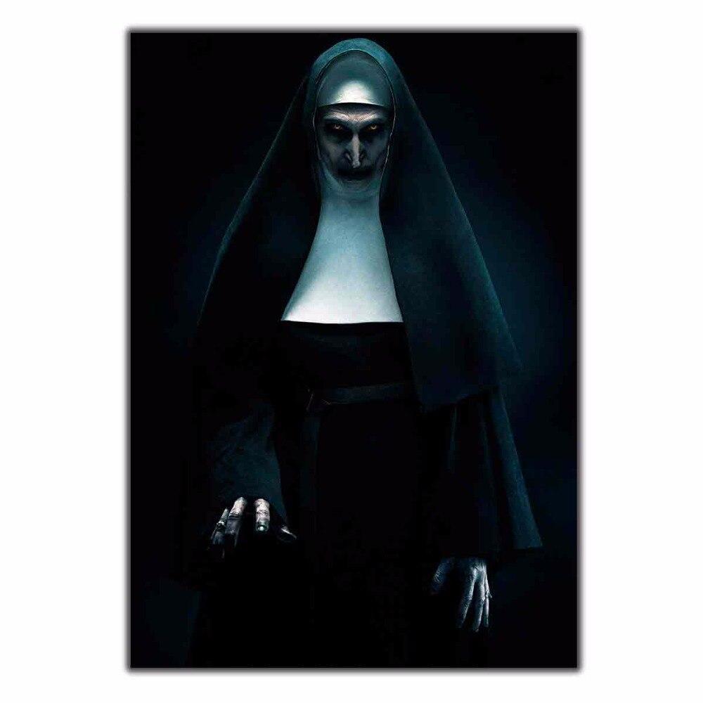 Art Poster Wall Canvas The nun movie horror new film 14x21 24x36 27x40 Print Modern Decoration home decor