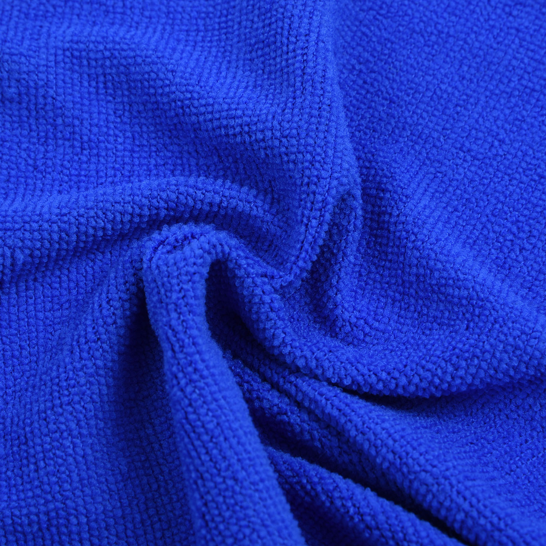 50 x microfibra pano de limpeza microfibra prato carro ginásio toalha de vidro 25x25cm azul