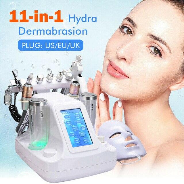 Girlove profesional 11 en 1 Hydra dermoabrasión Facial Spa máquina de agua burbujas bio-lifting piel poros limpieza profunda equipo