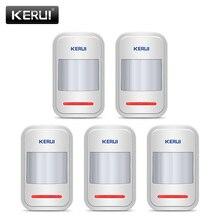 KERUI-détecteur de mouvement PIR sans fil   5 pièces/lot, pour panneau de clavier tactile GSM PSTN, sécurité intérieure, système dalarme vocale pour cambrioleur