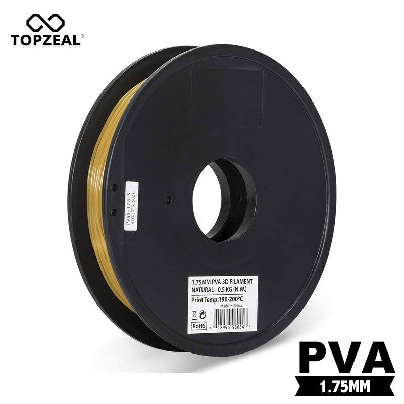 TOPZEAL 1.75 مللي متر PVA ذوبان 3D طباعة خيوط 0.5 كجم/بكرة متوافق مع تقريبا جميع 3D الطابعات و 3D الأقلام