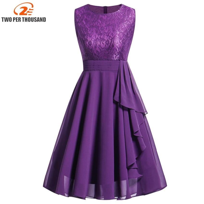 Vestidos Lace Dress Elegant Women Midi Prom Graduation Wedding Slim Party Dresses Summer 2018 Casual Chiffon Beach Dress