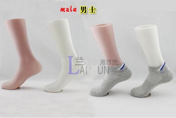 Free Shipping!! High Quality Fashionable Plastic Male Foot Mannequin Plastic Foot Mannequin Best Value