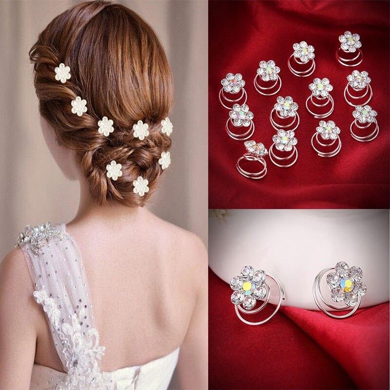 Horquillas De Pelo con diamantes De Cristal para boda, gran oferta, 12 Uds.