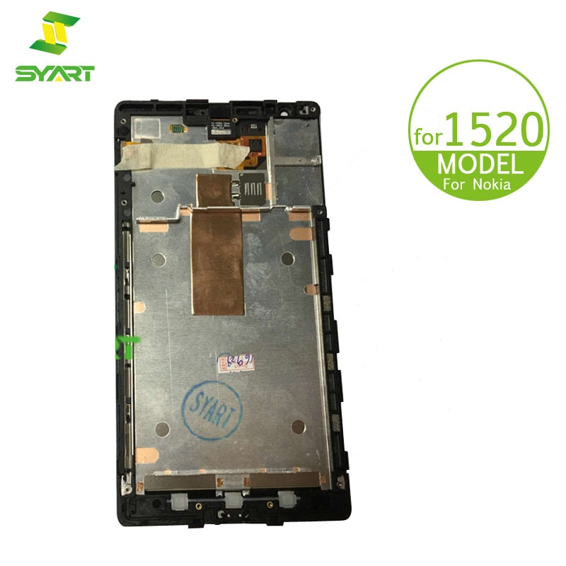 "Para Nokia Lumia 1520 LCD Display MONTAJE DE digitalizador con pantalla táctil con marco de reemplazo + herramienta para N1520 RM-937 RM-940 6,0 ""LCD"