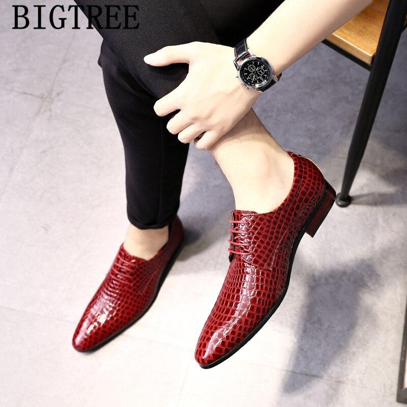 Zapatos De cocodrilo para Hombre, Zapatos De boda De marca clásica, Zapatos De oficina negros italianos formales para Hombre, Zapatos De Hombre De talla grande