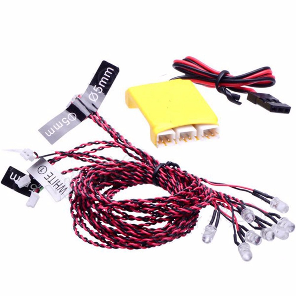 DIY FPV Drone 8 LED Multi-color Flashing Light System For RC Car Helicopters Multicopter Quadcopter