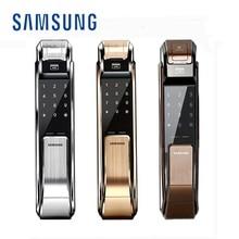 Serrure de porte numérique SAMSUNG   Verrouillage dempreintes digitales, Push Pull sans clé, empreintes digitales, Version anglaise grande mortaise AML320