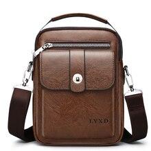 Nieuwe Collectie Vintage Pu Leer Toevallige Tas Designer Crossbody Bag Mannen Hoge Kwaliteit Messenger Mode Reizen Pu Lederen Tas