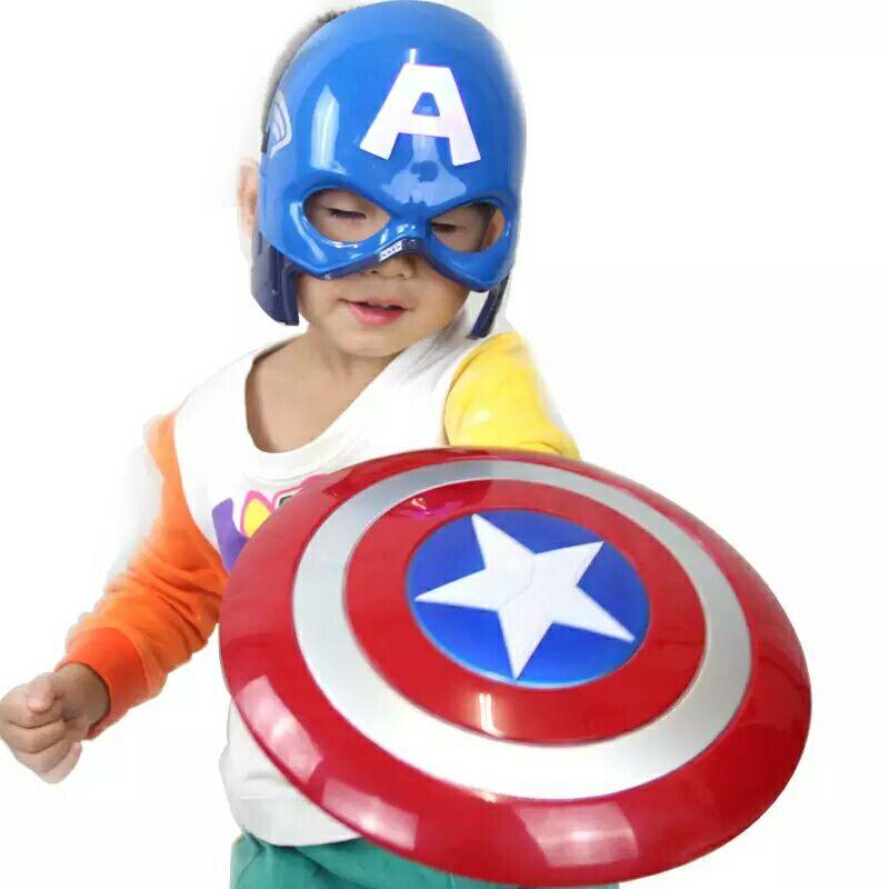 The Avenger Super Hero Cosplay captain america Steve Rogers figure Light-Emitting & Sound Cosplay property Toy Metallic shield