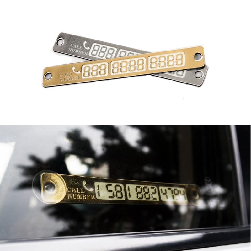 Tarjeta de estacionamiento temporal luminosa para Jetta mk6 Kia Rio 3 4 Ceed Cerato Sportage Picanto Sorento Optima Carens VW Golf 7 5 6