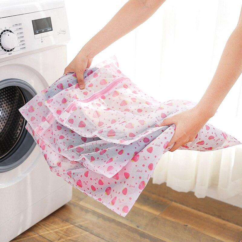 Sacs à linge à maille en Nylon   Housse de lavage à fermeture éclair pour vêtements, pochette de rangement de voyage, sac à vêtements, sous-vêtements pour Machine à laver