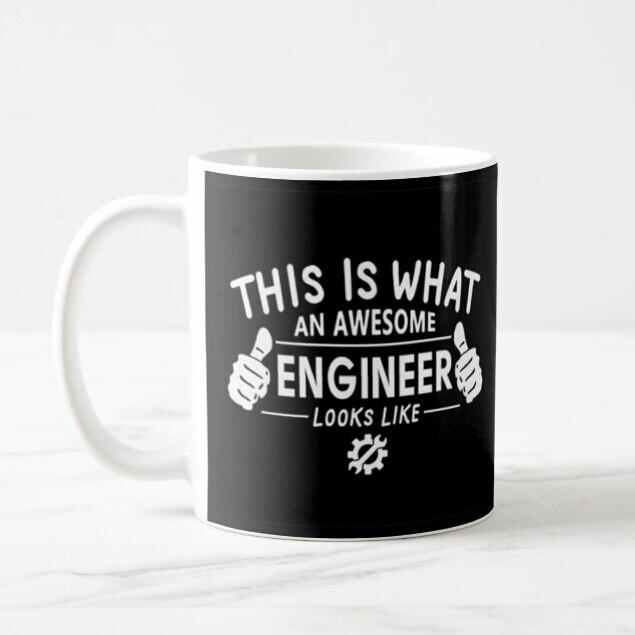 Divertido, esto es lo que un impresionante ingeniero parece taza para cerveza, café taza de té de la novedad de cerámica impreso ingeniería regalo compañero de trabajo de 11oz