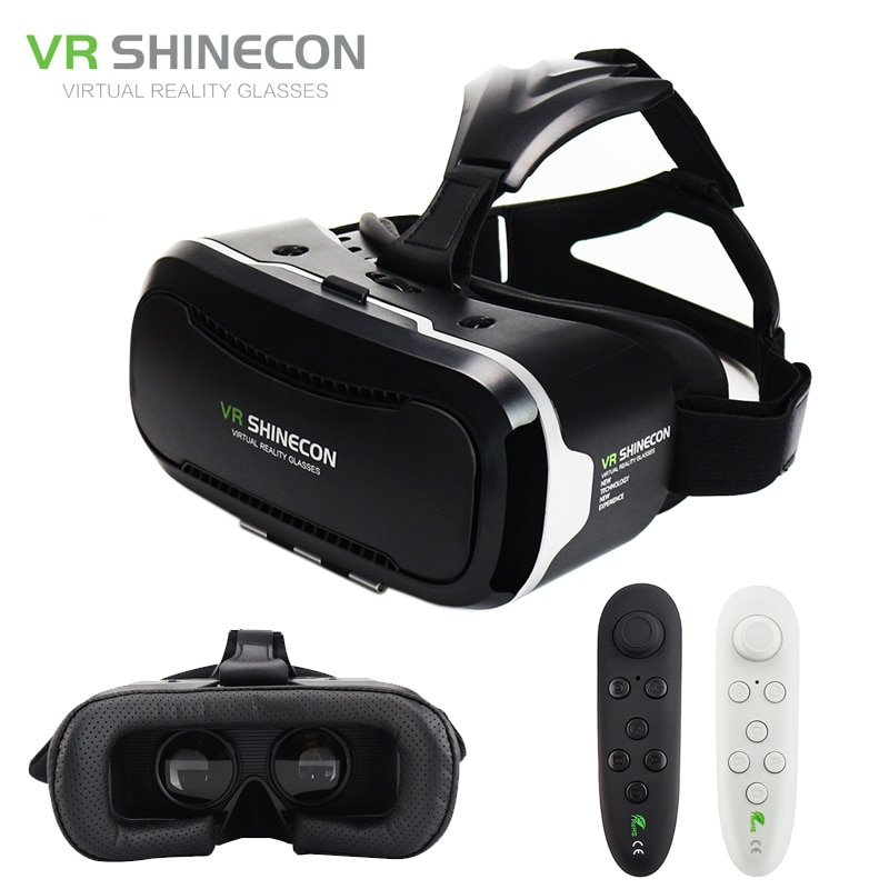 Shineon VR 2,0 Google Cardboard móvil 3D gafas de realidad Virtual auriculares inmersivo casco caja cabeza montaje para teléfono 4,7-6