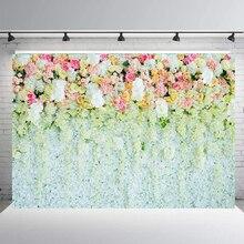 BEIPOTO 3D Flower Wedding Backdrop Bridal shower Photography background Rose Floral Photo Studio Props Baby table desset B-182