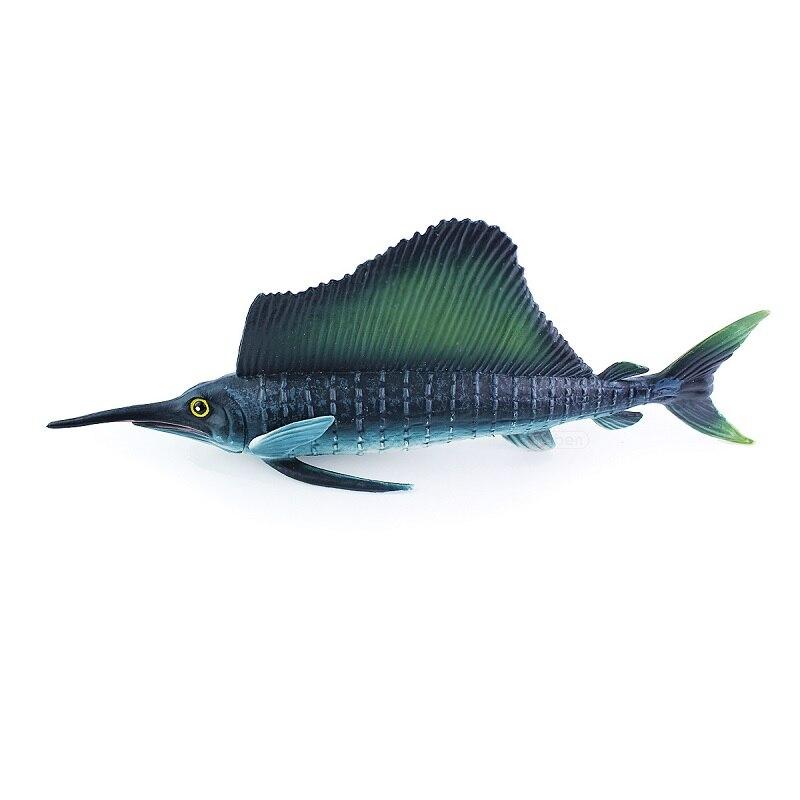 Mini Pesce Vela pesci Tropicali marini Modello di Simulazione Billfish realistico resine Realistico solido modello bambini scienze della sussidio didattico