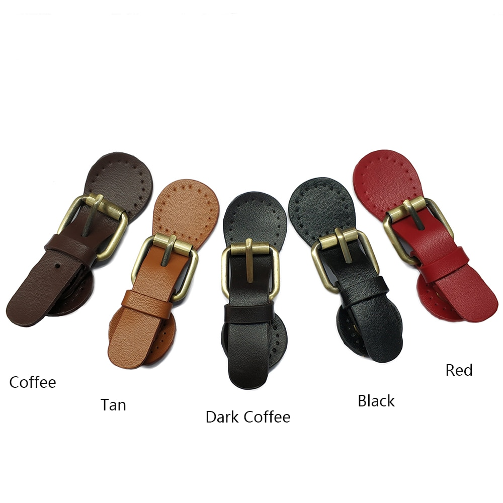 2pc Handmade DIY Bags Lock Buckle Self-Restraint Quality Genuine Leather Bag Accessories Hasp Clasp Mortise
