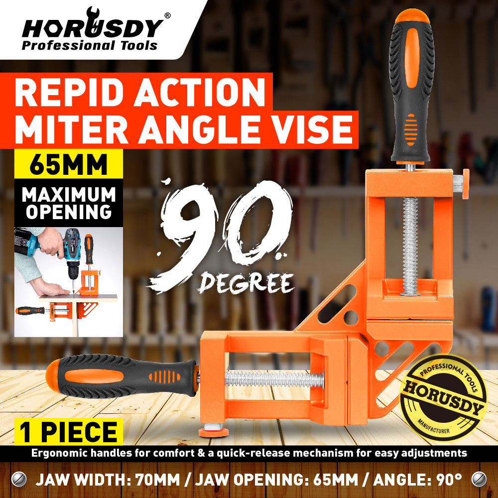 90 Degree Right Angle Clamp Mitre Clamps Corner Holder Welding Wood-Working Aluminum Alloy Right Angle Corner Clamp Tool h59400 clamp 9 locking welding clamp alloy steel vise grip locking welding quick pliers wood tenon locator