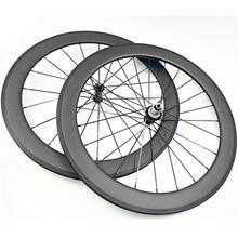 700c road bike carbon wheels 60x23mm clincher powerway R36 hubs carbon road wheelset bicycle wheels G3 20 24