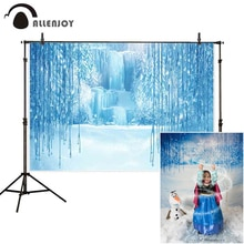 Allenjoy baby shower photography frozen backdrops moutain fairy tale children winter wonderland background photography photozone