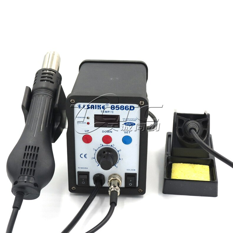 Saike SAIKE-8586D цифровая паяльная станция с горячим воздухом, паяльная станция с горячим воздухом 2 в 1