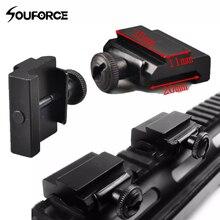 QD dégagement rapide 11 mm à 20mm Picatinny Rail montage Base tisserand à queue daronde adaptateur pistolet accessoires pour la chasse