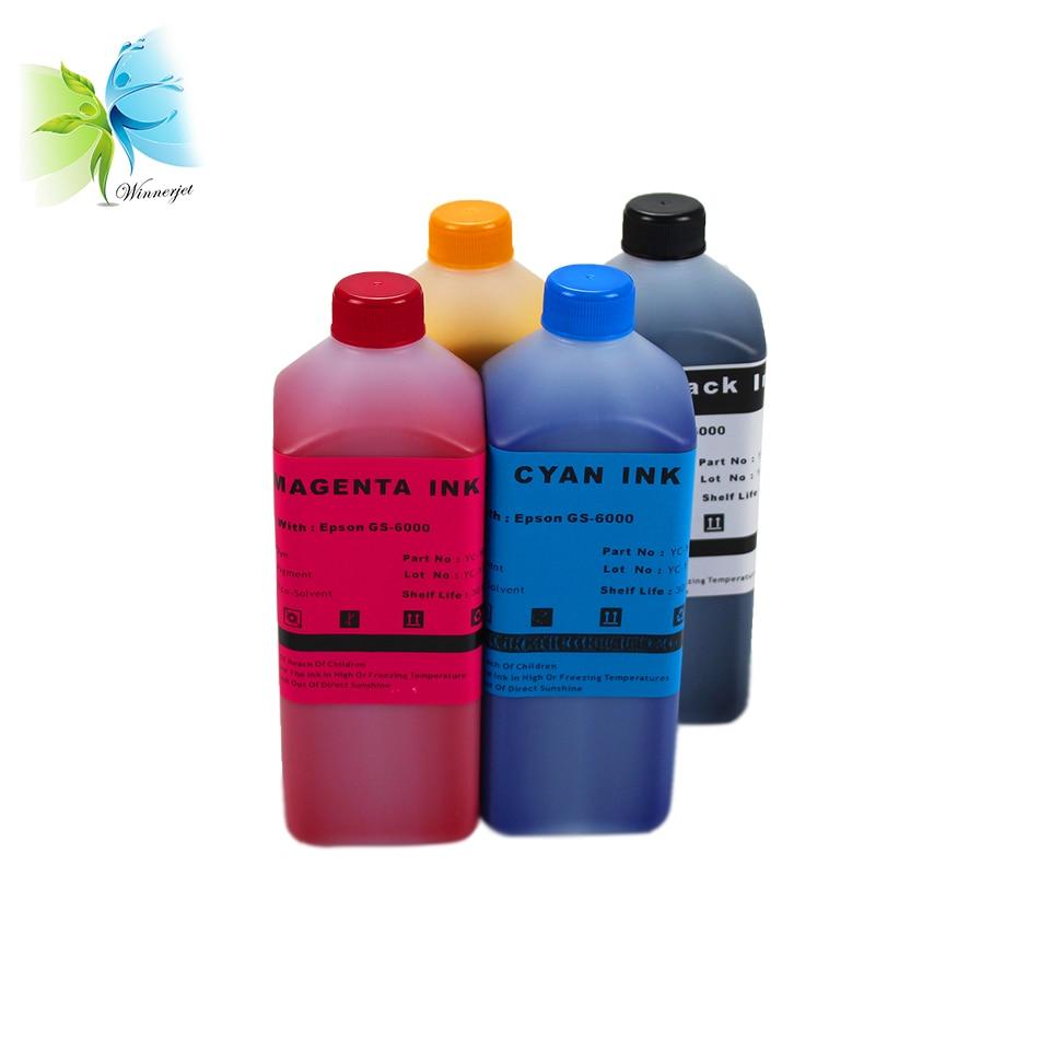 Tinta do jato de winnerjet para a tinta solvente de epson dx4/dx5/dx6 eco para a impressora de roland/mimaki/mutoh