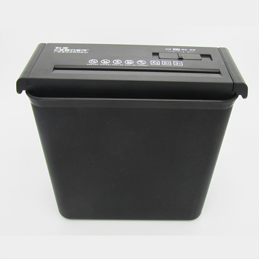 Trituradora eléctrica de escritorio 10L, corte eléctrico, tira trituradora de archivos, oficina, hogar, 220V/75W, trituradora de papel, 502 6,8mm, trituradora de papel