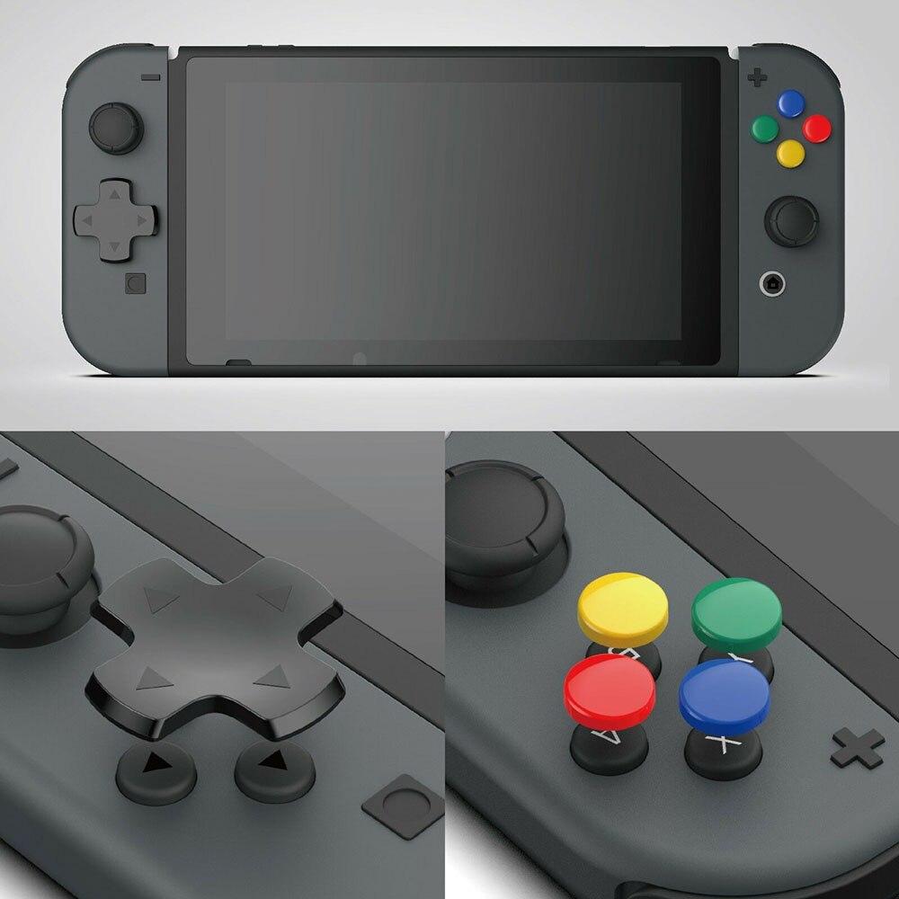 Cross & Circular d-pad botón Cap Set para Nintendo Switch Joy-con ABXY pegatina botón tapas cubierta para NS NX