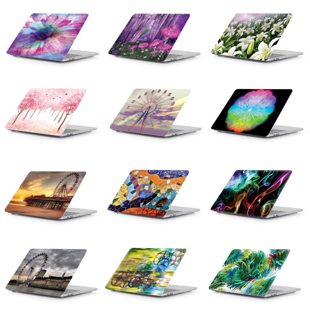 غطاء كمبيوتر محمول صلب بنمط إبداعي ، شريط لمس لجهاز Macbook New Pro 13 15