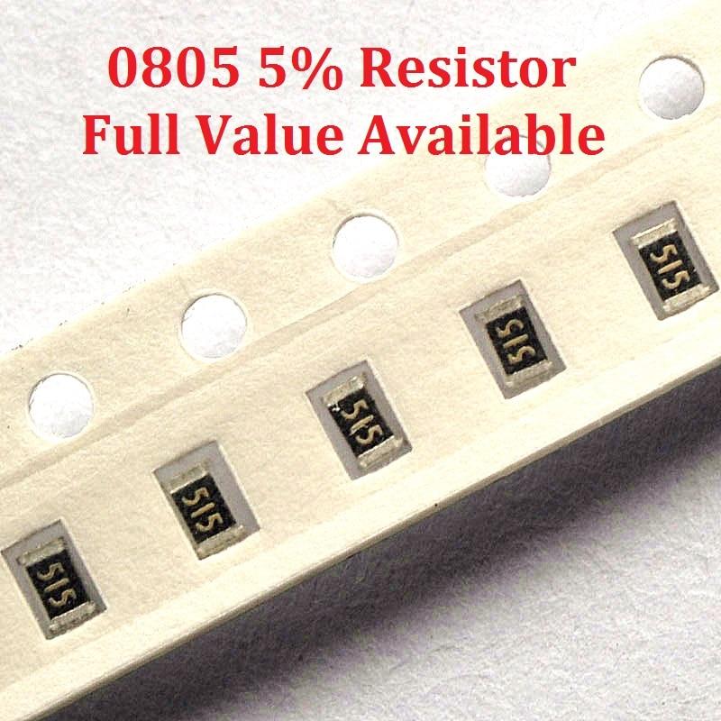 300 unids/lote resistencia SMD tipo chip 0805 91 K/100 K/110 K/120 K/130 K/Ohm resistencia 5% 91/100/110/120/130/K resistencias envío gratis