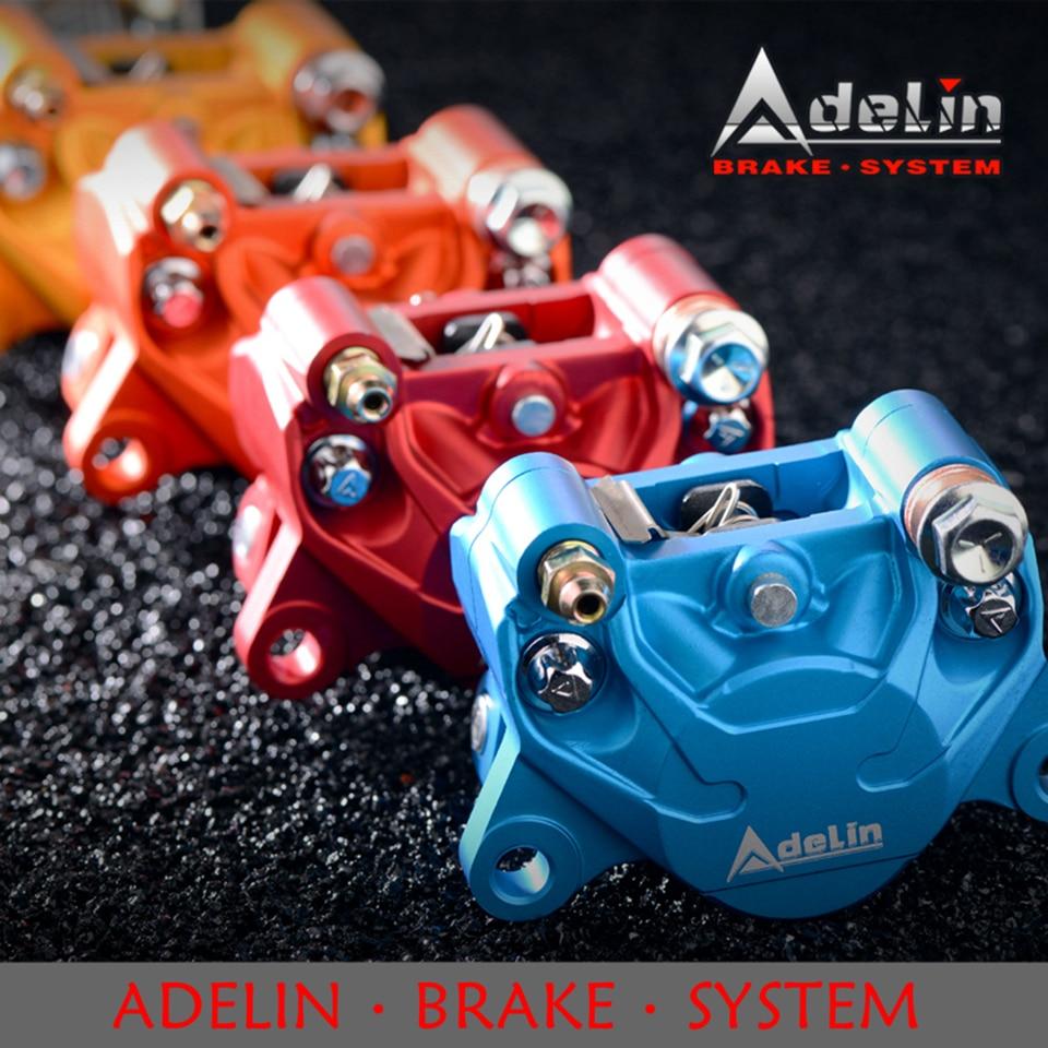 Adelin الرسمية ADL-17 دراجة نارية الهيدروليكية الفرامل الفرجار العالمي 84 مللي متر 2 بيستونز الفرامل الفرجار للدراجات النارية نظام الفرامل