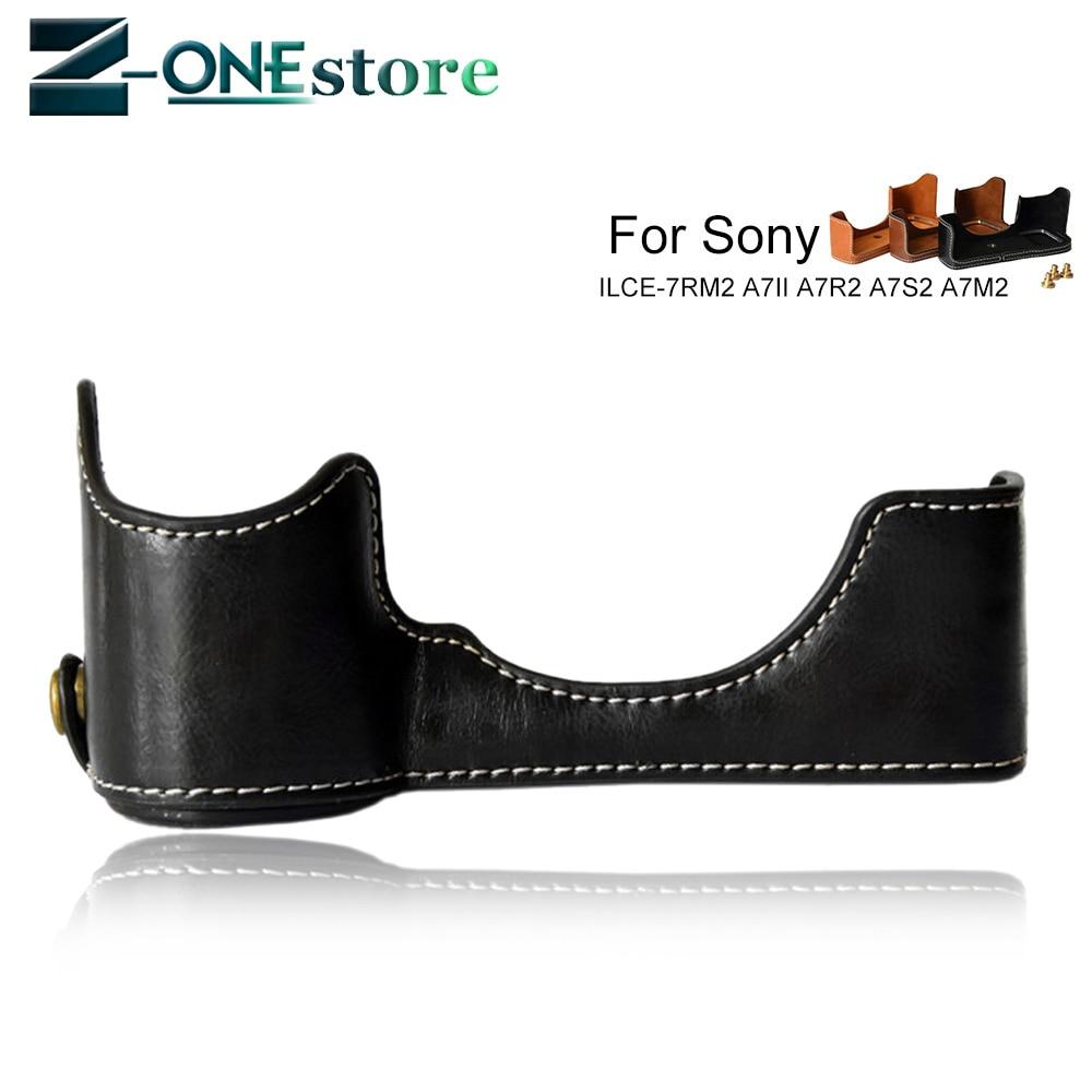 Чехол-сумка из искусственной кожи для камеры Sony ILCE-7RM2 A7II A7R2 A7S2 A7M2 A7 markII с отверстием для аккумулятора