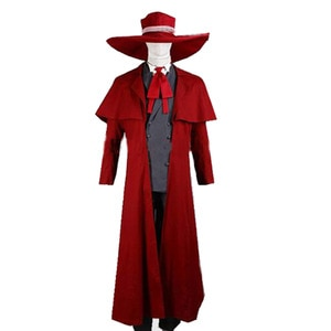 2021 New Vampire Hunter Cosplay Hellsing Alucard Costumes Cool Man Suit and High Cotton Content Long Coat Best Outfits