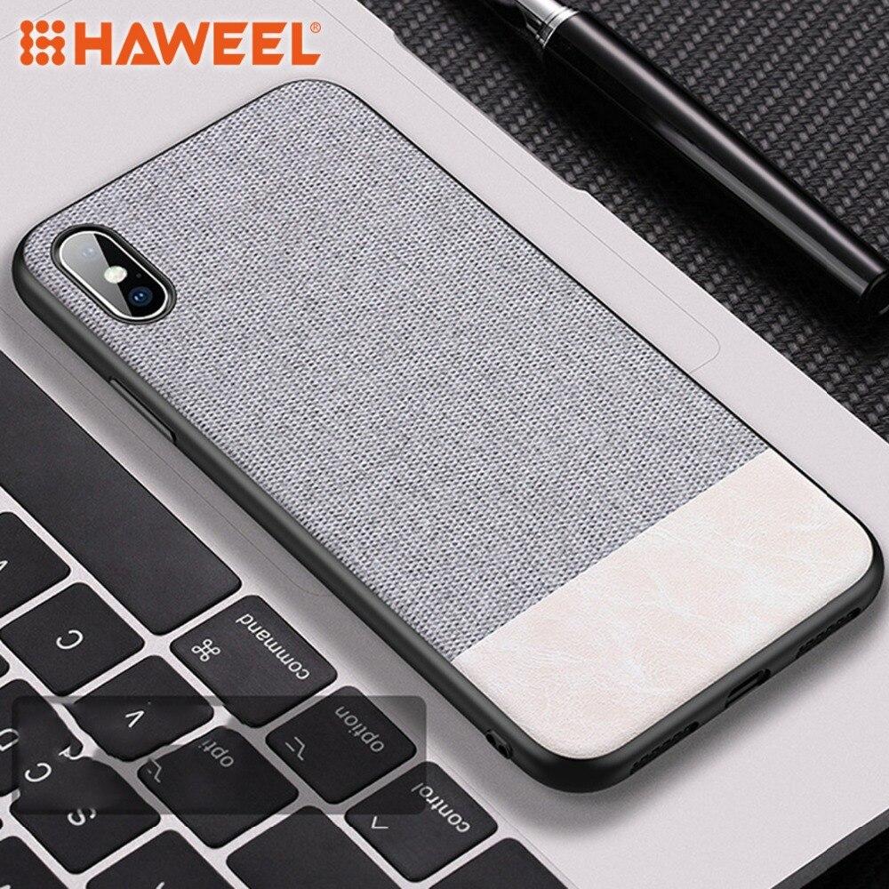 HAWEEL teléfono Shell caso para el iPhone X XS TPU + vidrio templado a prueba de golpes caso de la contraportada para el iPhone X XS