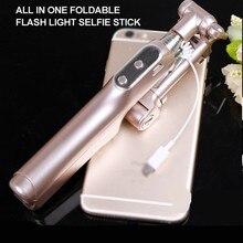 Bluetooth Selfie bâton extensible poche monopode W remplissage lumière LED pour Samsung Galaxy Note 2 3 4 5 7 8 Edge S5 S4 S3 On5 On7