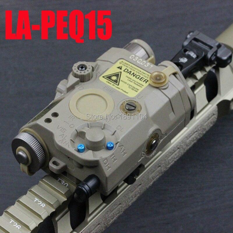 Элемент LA-PEQ 15 Светодиодный светильник с красным лазером и ИК подходит для страйкбола тактический военный стандарт (EX 276)