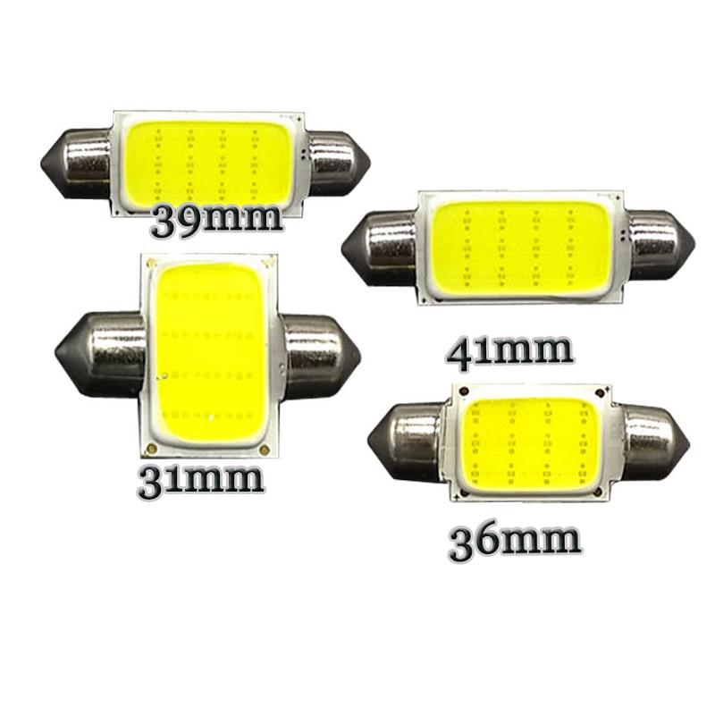 Festón C5W COB Chip 12 LED 31mm 36mm 39mm 41mm coche luz...
