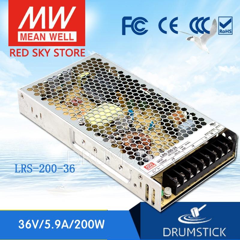 Oferta MEAN WELL LRS-200-36 36V 5.9A meanwell LRS-200 36V 212,4 W fuente de alimentación de conmutación de salida única