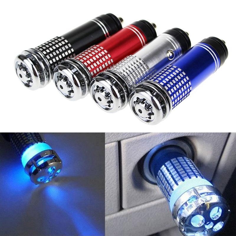 Mini purificador de aire de coche DC 12V anión ionizador limpiador desodorante portátil Auto vehículo eliminador de olores M8617