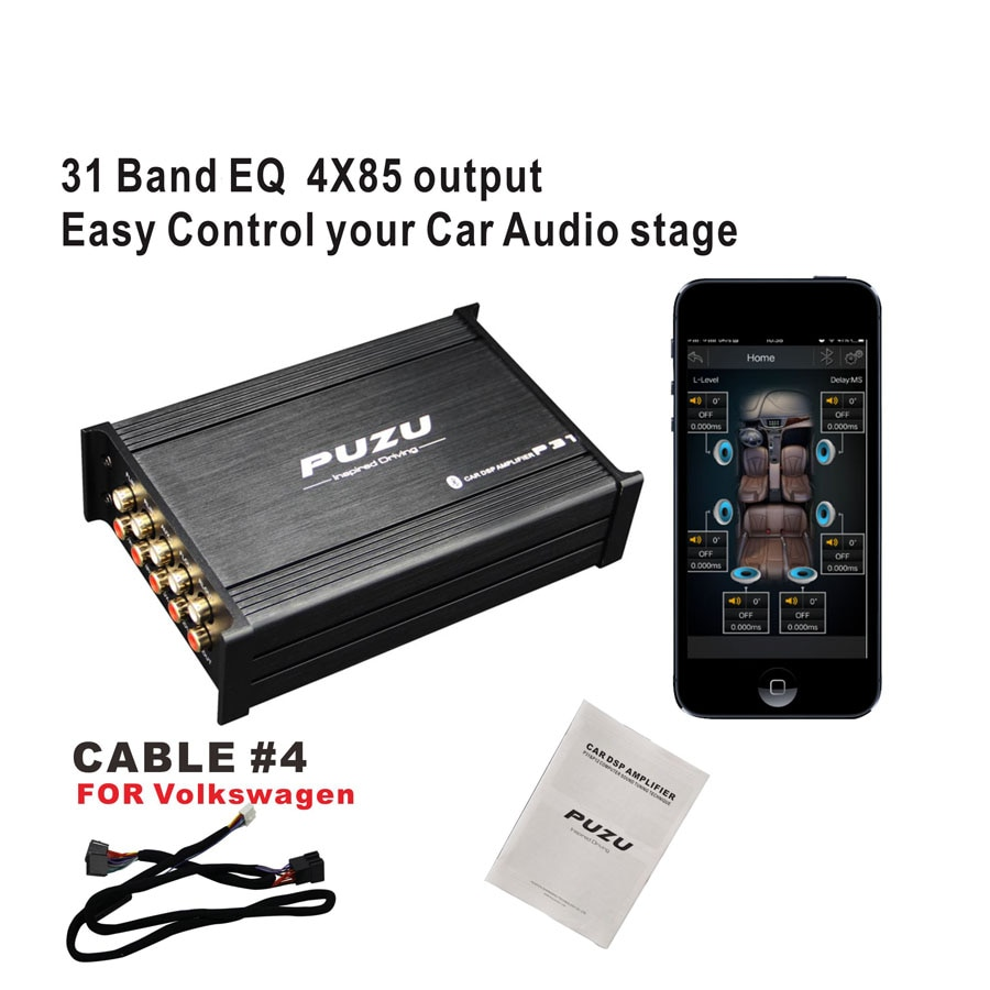 PUZU 31 bandas 4X 85W Salida de coche DSP amplificador para VW polo Passat Golf Bora Sagitar skoda coche audio sistema de actualización P31