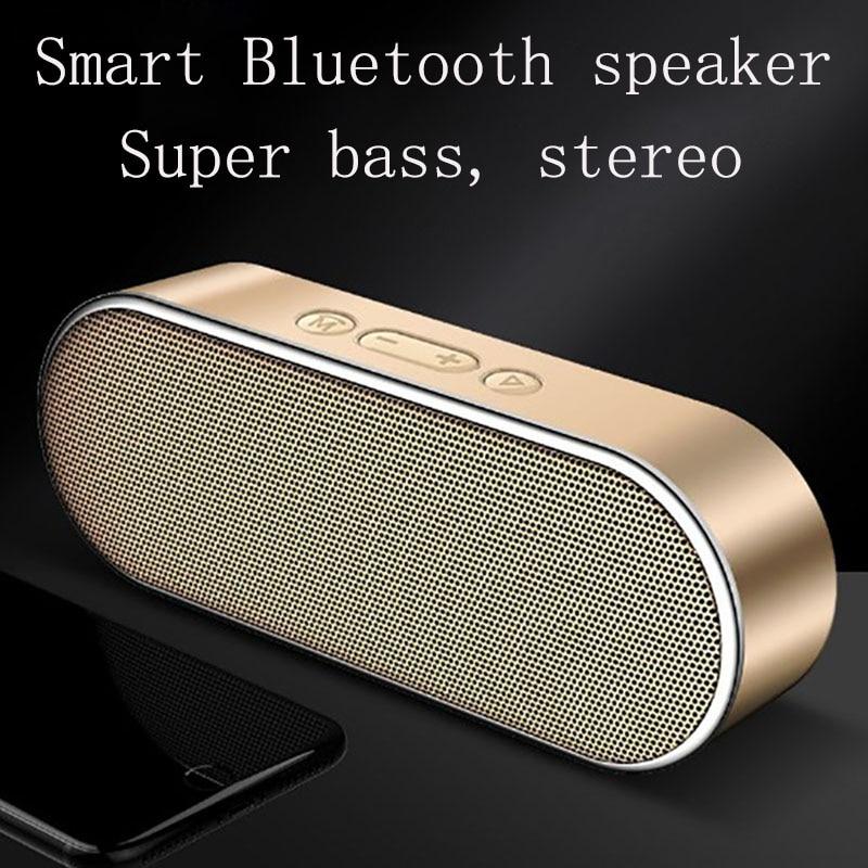 Smart Bluetooth speaker 3D stereo surround sound effect dual horn super bass DSP digital noise reduction HD call portable design