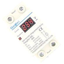 Dispositif de protection 40A 220V   Remontage automatique de au-dessus de tension et de sous-tension, relais avec moniteur de tension