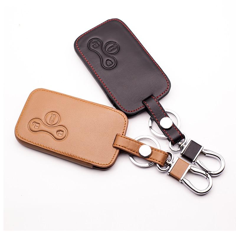 Ключи для автомобильных кожаных ключей для Renault Megane RS. Scenic 3 корпус для ключей на кнопке чехол Крышка карта аксессуары для автомобильных ключ...